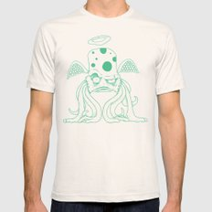 Space Alien Sci Fi art Lines Only by RonkyTonk Mens Fitted Tee Natural SMALL