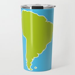 South America map blue ocean and green continent. Vector illustration Travel Mug