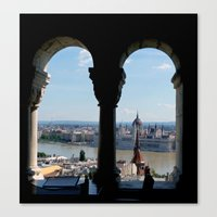 budapest Canvas Prints featuring Budapest by Lynn Bolt