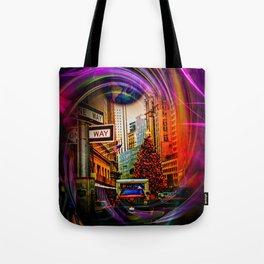 Christmas Shopping  New York Tote Bag