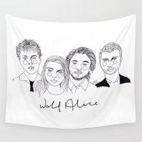 cactei Wall Tapestries featuring Wolf Alice by ☿ cactei ☿
