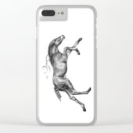 Contra viento /Running horse Clear iPhone Case