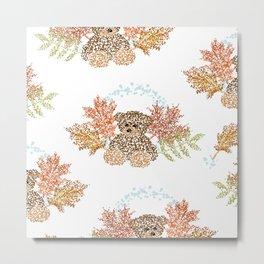 Autumn Bears Metal Print