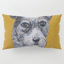 Terrier Mix Dog Portrait Pillow Sham