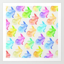 Watercolor Bunni Art Print