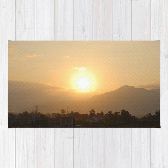 Sun Set Across Nagarjuna Rug