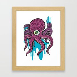 wounded octopus Framed Art Print