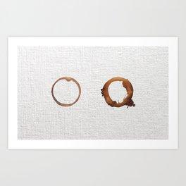 Two coffees Art Print