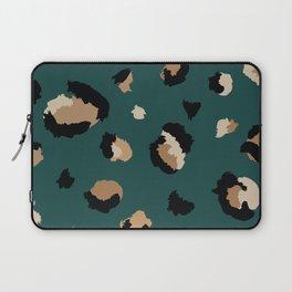 Teal Leopard Print Laptop Sleeve