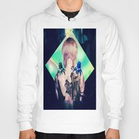 ghost in the shell Hoodies featuring ghost in the shell tribute: 25th anniversary  by Candice Steele Collage and Design