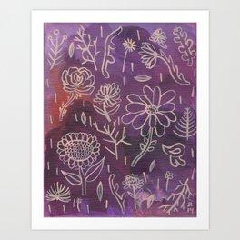 Purple Floral Art Print