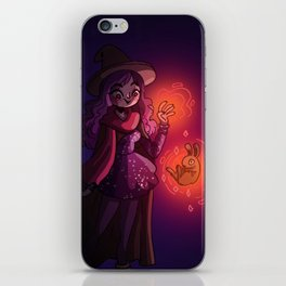 The witch and the rabbit iPhone Skin