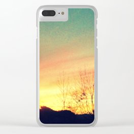 Country Sunset Clear iPhone Case