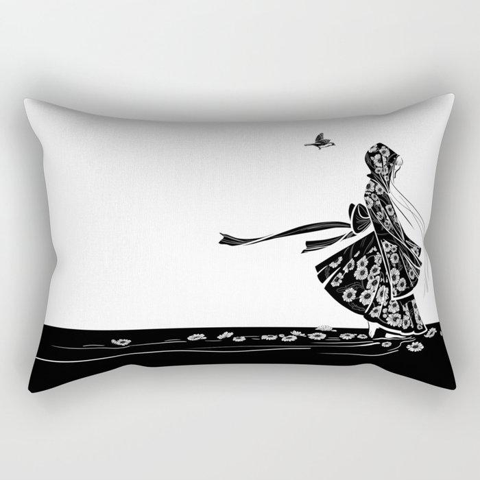 Daisy Girl Rectangular Pillow
