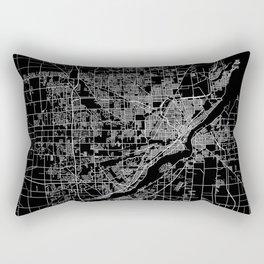 Toledo map ohio Rectangular Pillow