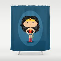 wonder Shower Curtains featuring Wonder by Sombras Blancas Art & Design