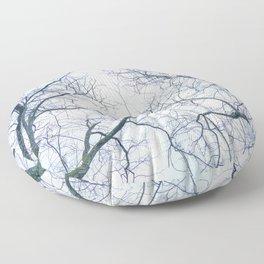 Abstract tree trunks Floor Pillow