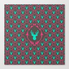 Oh Deer (teal dark) Canvas Print