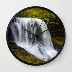 Silky waterfall Wall Clock