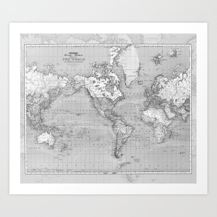 Atlas of the World Art Print