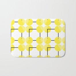 pattern circulos amarillos Bath Mat