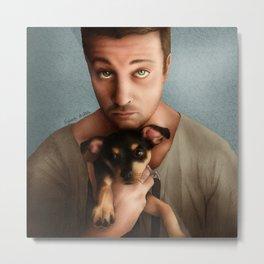 Dan Feuerriegel & Teddy the Puppy Metal Print