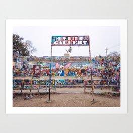 HOPE Outdoor Gallery in Austin Art Print