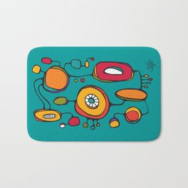 Scribbles 01 in Color Bath Mat
