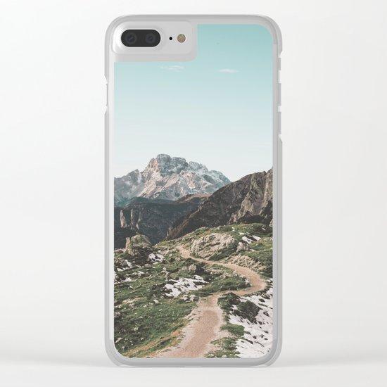 Italian Dolomites II Clear iPhone Case