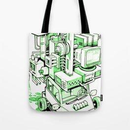 Green Machine Car Tote Bag