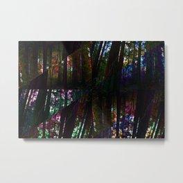 Redwoods Kaleidoscope Metal Print