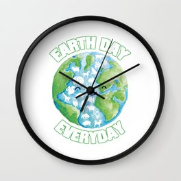 Earth Day Every Day Save Animals Wall Clock