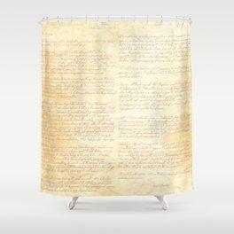 Jane Austens Letter to her sister Cassandra Shower Curtain