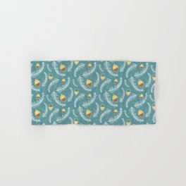 Holiday Floral Acorn Blue #Holiday #Christmas Hand & Bath Towel