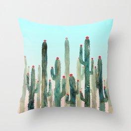 Summer Cactus 4 Throw Pillow