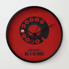 Dial M For Murder 01 Wall Clock