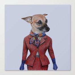 dog in uniform Canvas Print