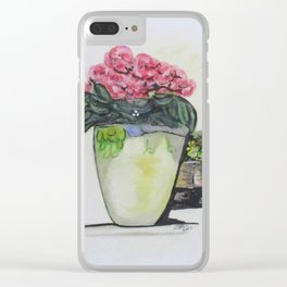 Kimberly's Castellabate Flower Pot Clear iPhone Case