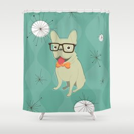 Frank the Frenchie Shower Curtain