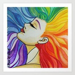Rainbow Woman Art Print