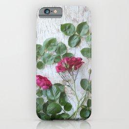 Vintage Red Rose iPhone Case