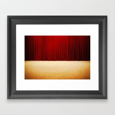 Theater stage curtains Framed Art Print
