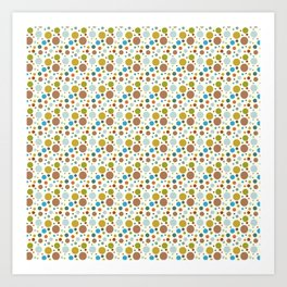 Robot Babies Polka Dots Art Print