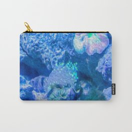 Electric Coral Carry-All Pouch