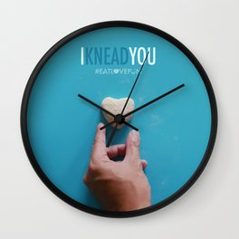I Knead You Wall Clock