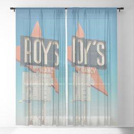 Roys Motel & Cafe ... Sheer Curtain