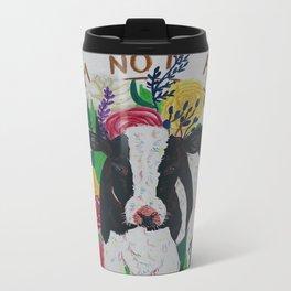 I am not food Metal Travel Mug