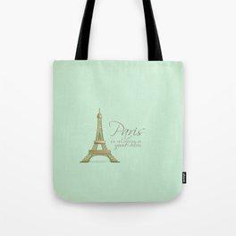 Paris is Always a Good Idea {Redesign} Tote Bag