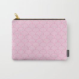 Light Pink Concentric Circle Pattern Carry-All Pouch