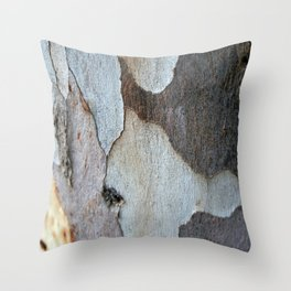 Peeling Bark Of A Eucalyptus Gum Tree Throw Pillow